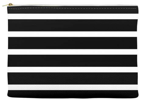 Simplify Diaper Pouch | Black with White Stripes