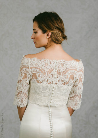 Bianca Off the Shoulder Lace Bolero