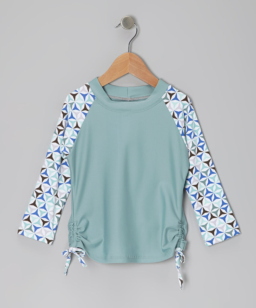Jade Kaleidoscope Long Sleeve Rashguard