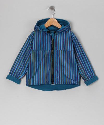 Blue Stripe 2 Layer Windproof Jacket