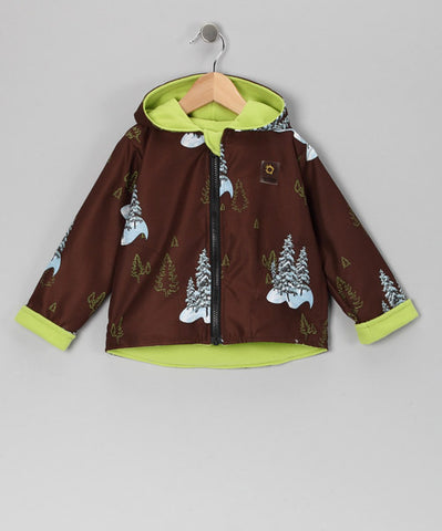 Brown Trees 2 Layer Windproof Jacket