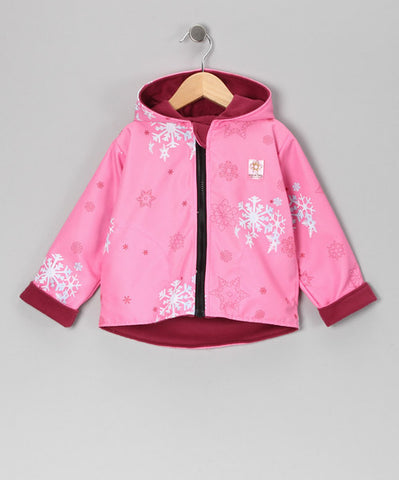 Pink Snowflake 2 Layer Windproof Jacket