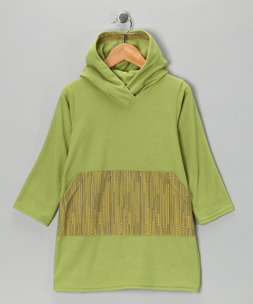 Green Dot Fleece Tunic