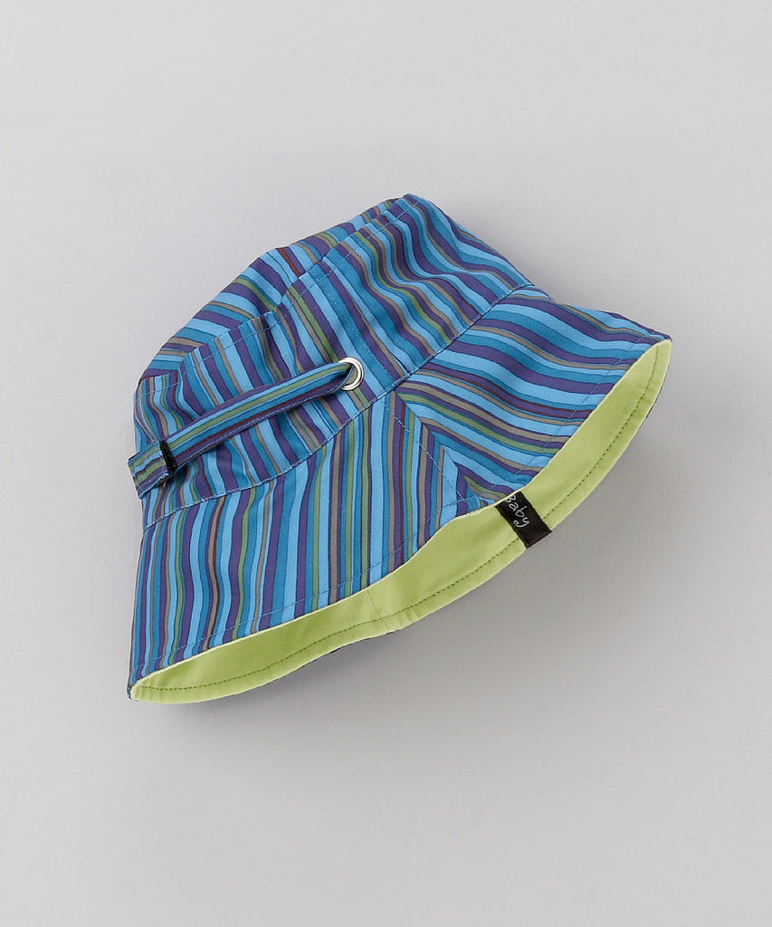 Blue Stripe Reversible Bucket Hat