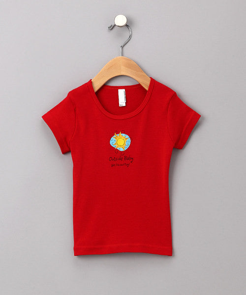 Outside Baby Cap Sleeve T-Shirt