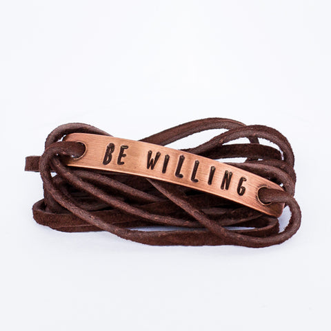 Be Willing Copper Wrap Bracelet