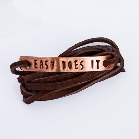 Easy Does It Copper Wrap Bracelet