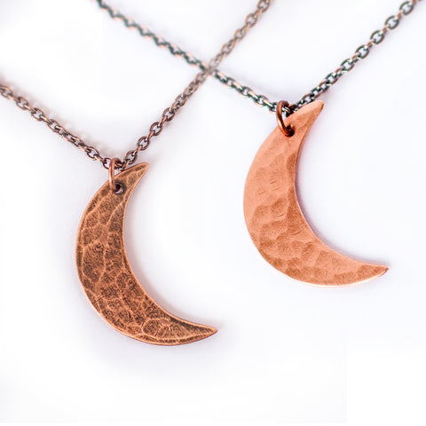 Crescent Moon Copper Necklace