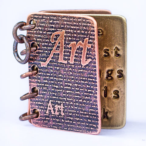 The Artist Belongs To His Work, Not His Work To The Artist - Metal Book Pendant