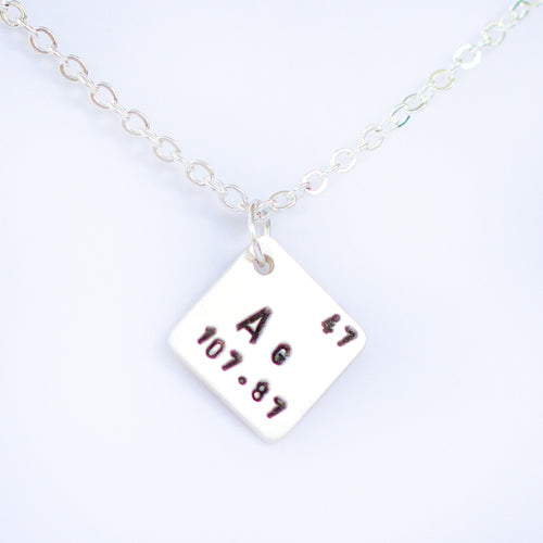 Sterling Silver Periodic Elements Necklace