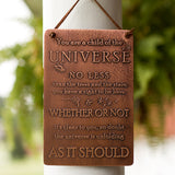 Desiderata - Child of the Universe - Etched Copper Plaque