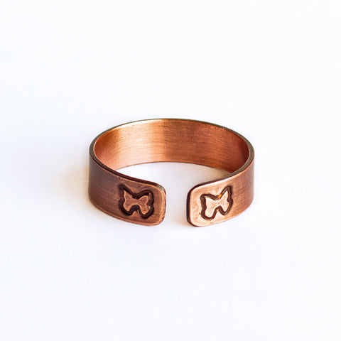 Butterfly Copper Ring