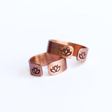 Lotus Flower Copper Ring