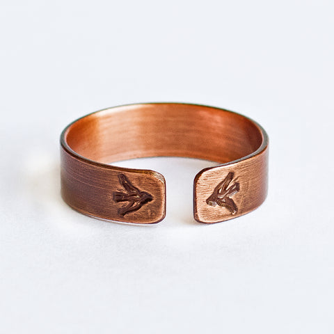 Bird Copper Ring