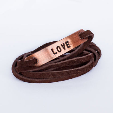 Love Copper Wrap Bracelet