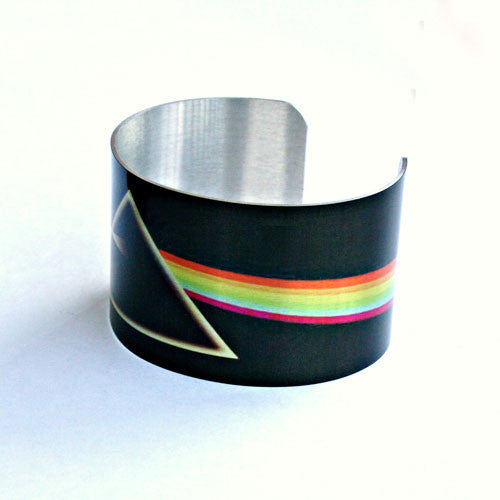 The Dark Side of the Moon, by Pink Floyd - Aluminum Cuff Bracelet