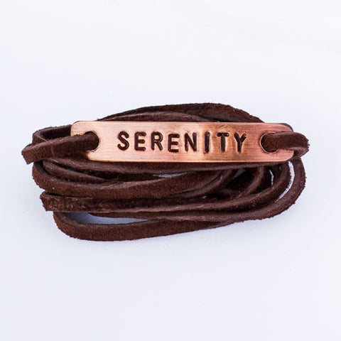 Serenity Copper Wrap Bracelet