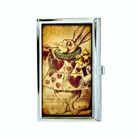 Alice in Wonderland Rabbit Business Card Case