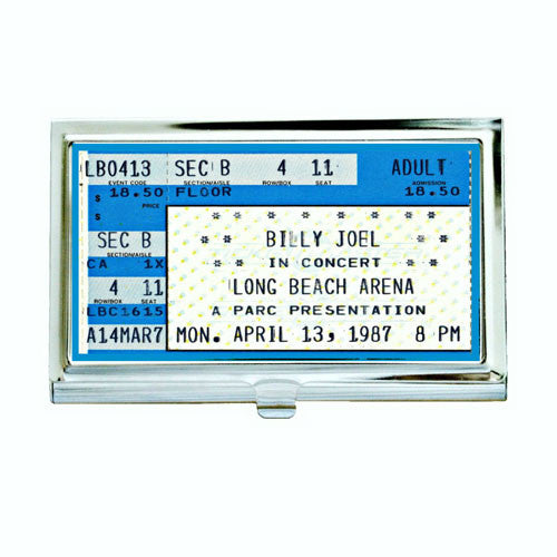 Vintage Billy Joel Concert Ticket Business Card Case