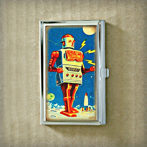 Robot Girl Business Card Case