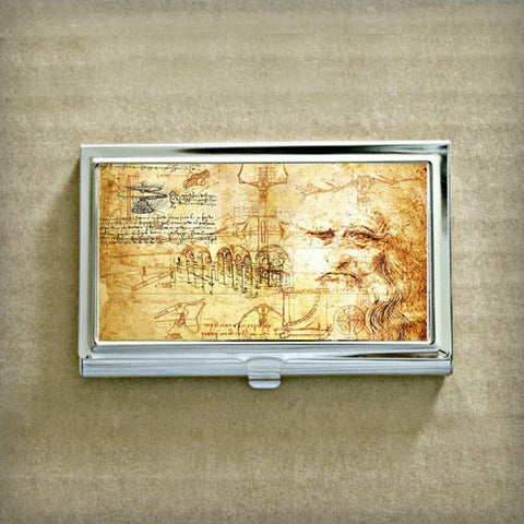 Leonardo da Vinci Business Card Case
