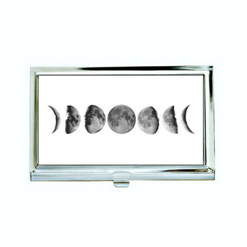 Moon Phases Business Card Case