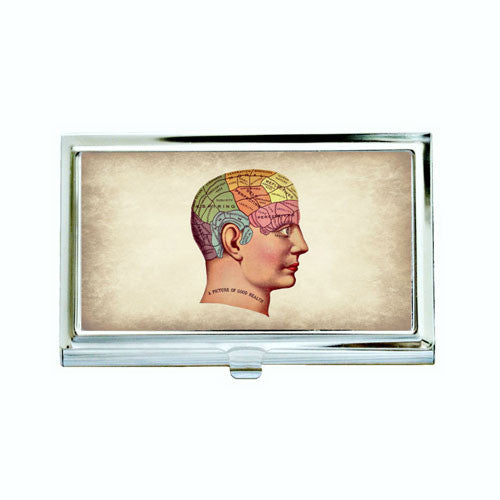 Phrenology Man Business Card Case