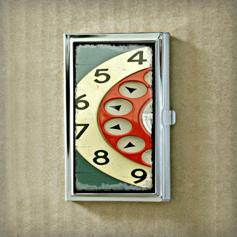 Telephone Dial Business Card Case