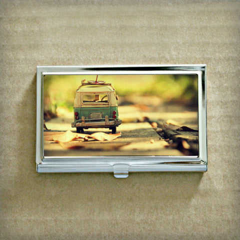 Toy VW Bus Business Card Case