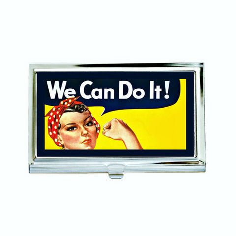 Rosie the Riveter Business Card Case