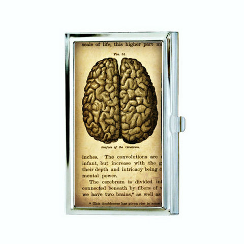 Anatomical Brain Business Card Case