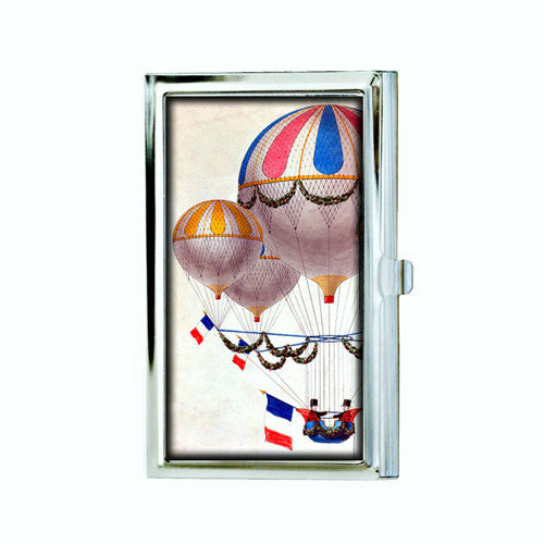 Red, White and Blue Hot Air Balloon Business Card Case