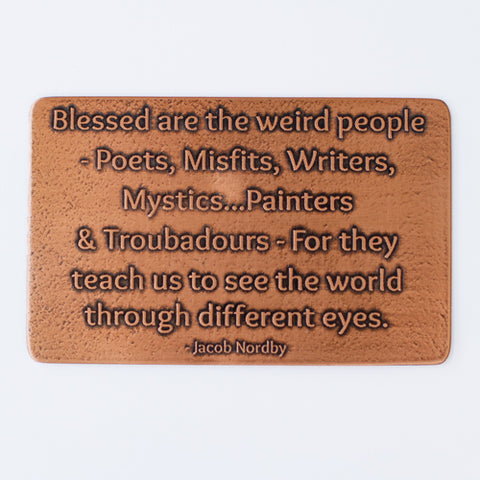 Blessed Are The Weird, Etched Wallet Card Insert