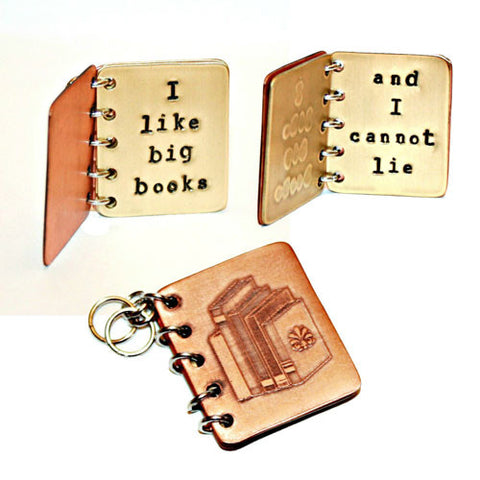 I Like Big Books and I Cannot Lie - Metal Book Pendant