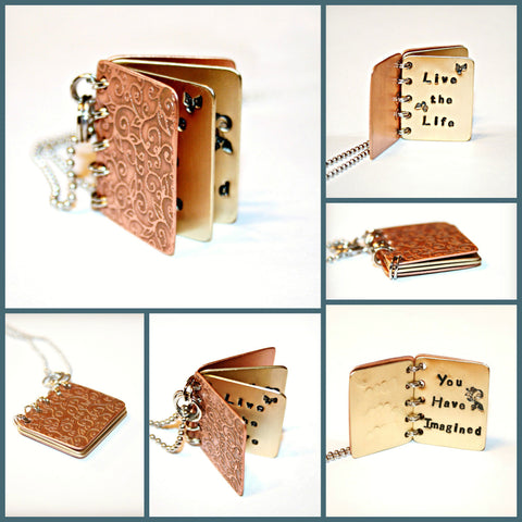 Book Pendant- Live the Life You Have Imagined
