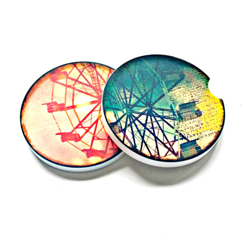 Ferris Wheels Sandstone Car Coasters