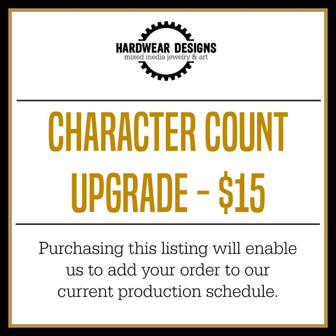 Character Count Upgrade - $15