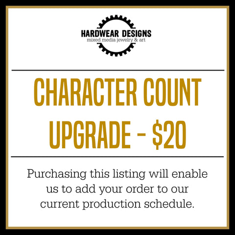 Character Count Upgrade - $20