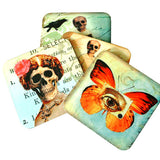 Skeleton Mother with Children - Hardboard Coaster Set of 4