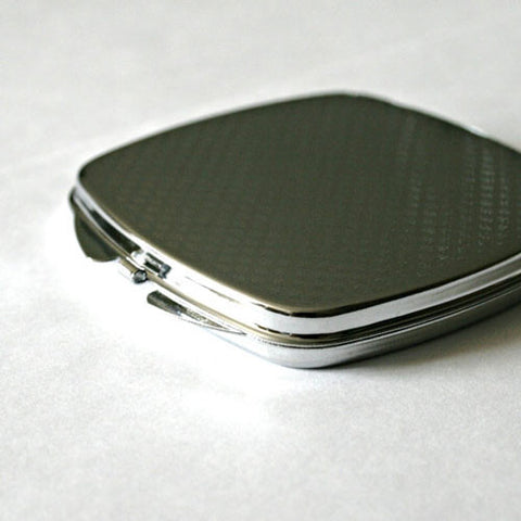 Red Grunge Chevron Compact Mirror