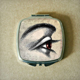 Brown Eye Drawing Compact Mirror