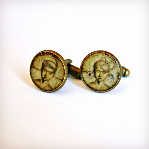 Phrenology Resin Cufflinks