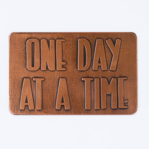 One Day At A Time, Etched Wallet Card Insert