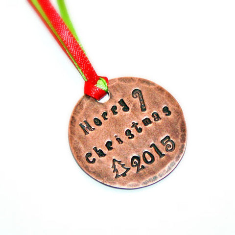 'Merry Christmas 2015' Holiday Ornament