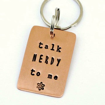 Copper Key Chain - Talk Nerdy to Me