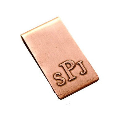 Monogrammed Etched Money Clip