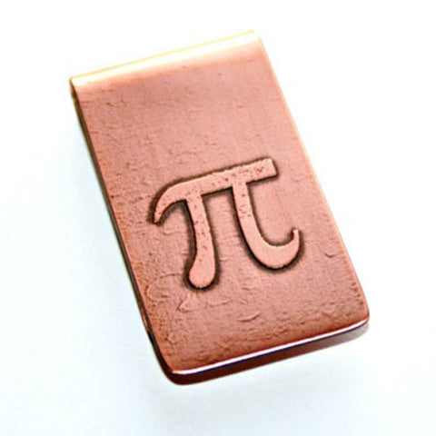 Pi - Etched Money Clip