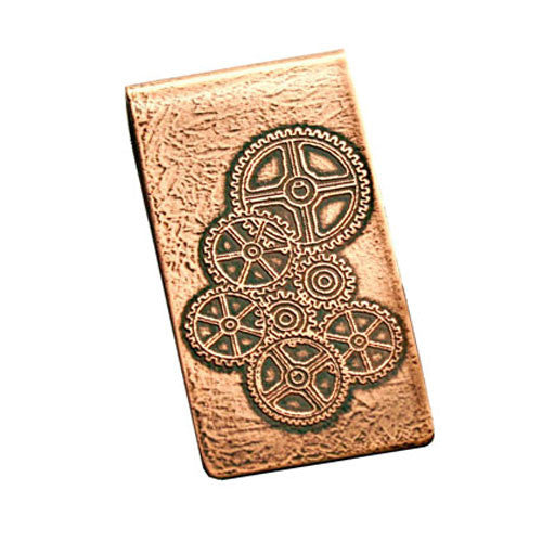 Gears - Etched Money Clip