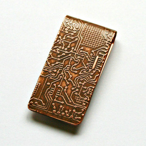 Circuit Board - Etched Money Clip