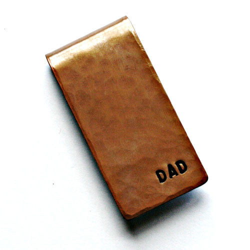 Torched & Hammered Money Clip - Plain or Monogrammed